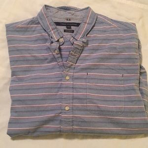 Tommy Hilfiger Custom Fit Button Down Shirt Sz XL